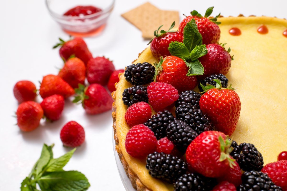 5D4B0634 - Holiday Cheese Tart with Strawberry Glaze