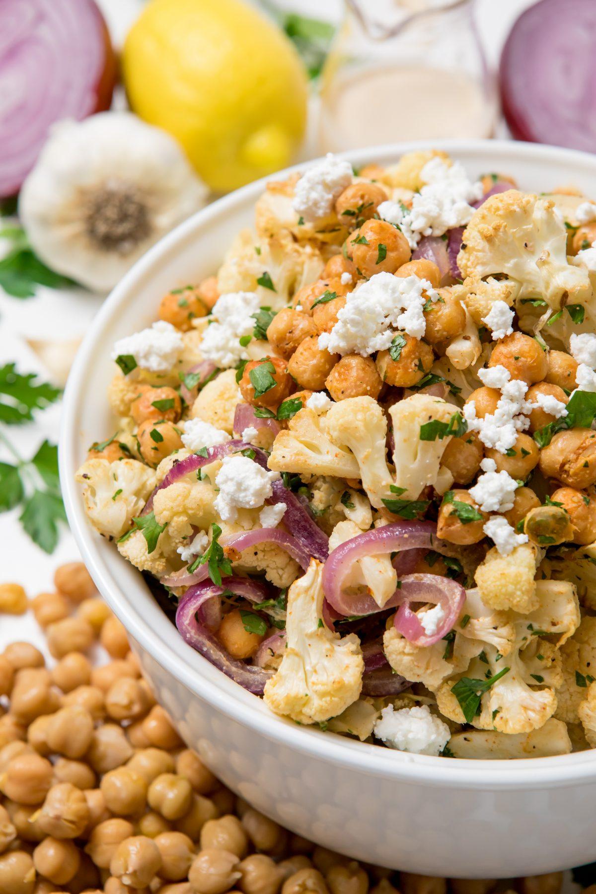 5D4B3836 - Cauliflower salad with Lemon tahini dressing