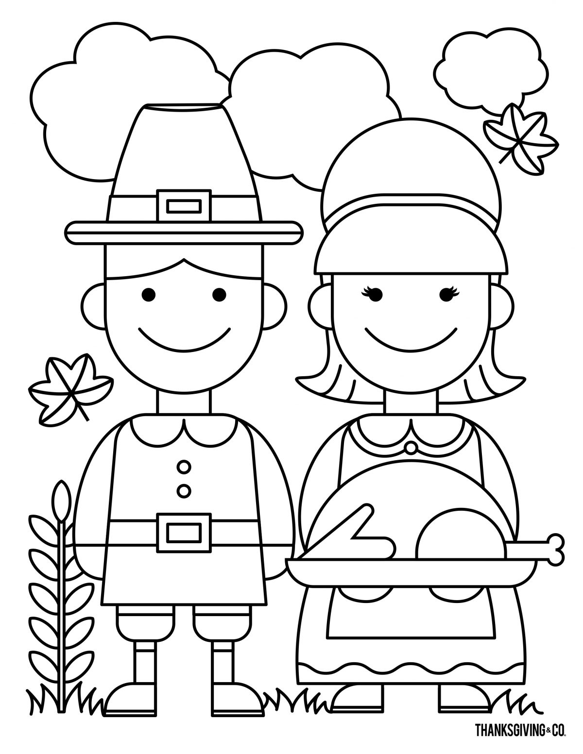 Thanksgiving Coloring 5