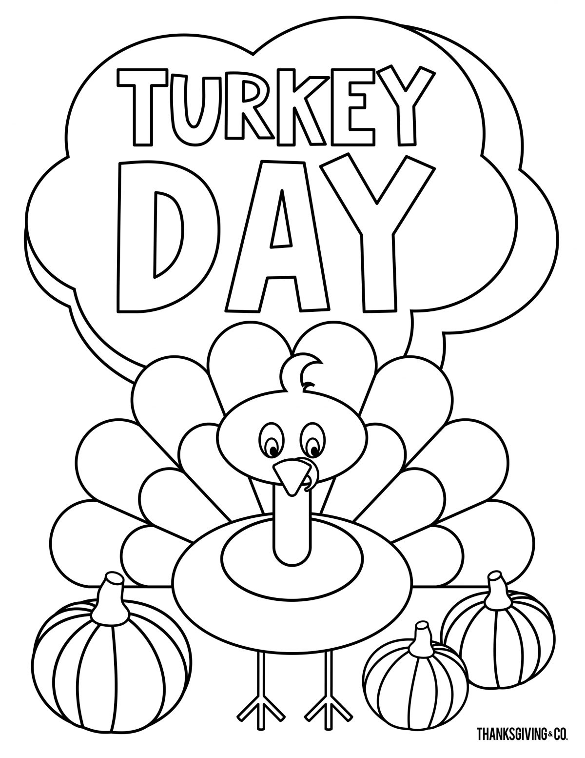 Thanksgiving Coloring 6
