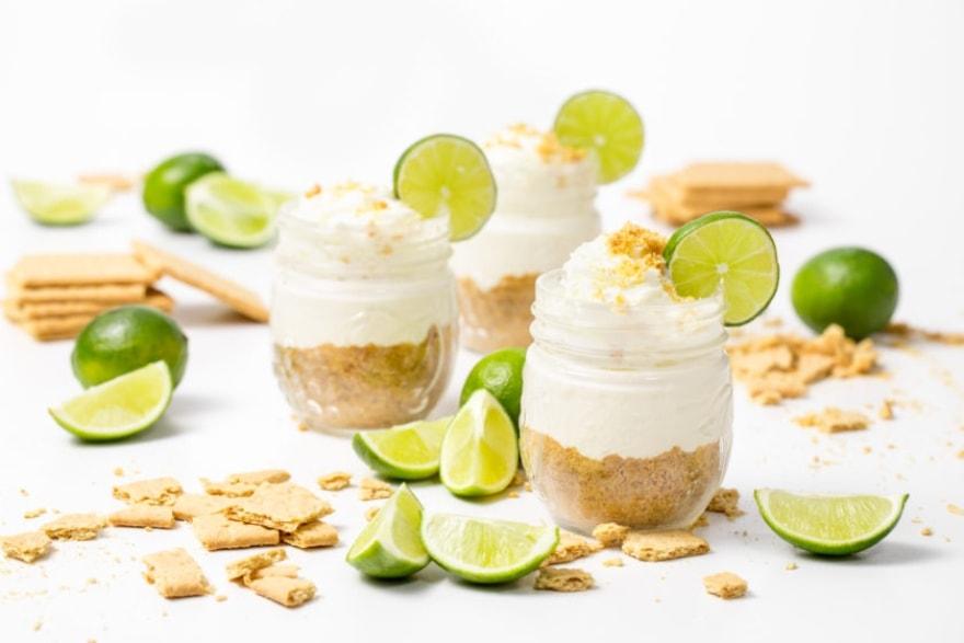 Microwave Friendsgiving key lime pie in a jar