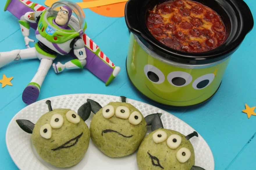 Dinner and a movie Toy Story Pizza Planet fondue