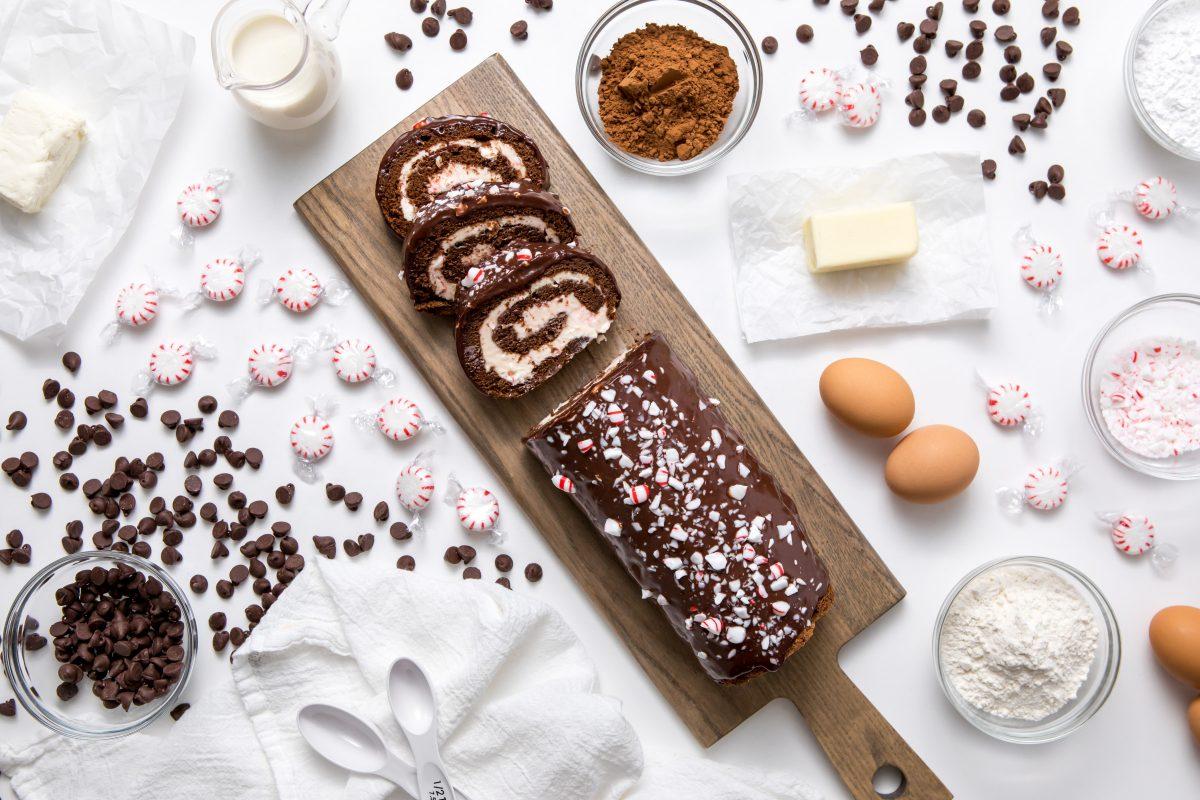 5D4B6043 - Chocolate Peppermint Cake Roll