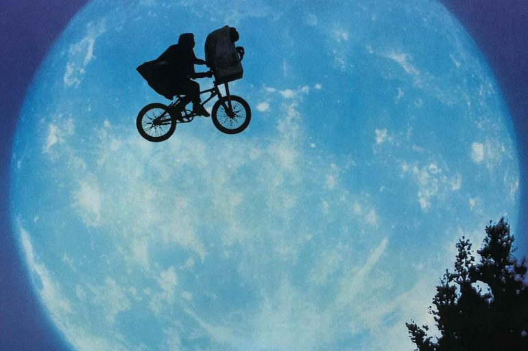 E.T. the Extra-Terrestrial movie - flying bicycle