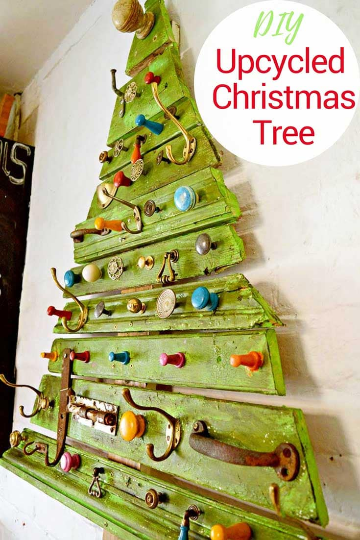 Recycled-DIY-wood-Christmas-tree-pin