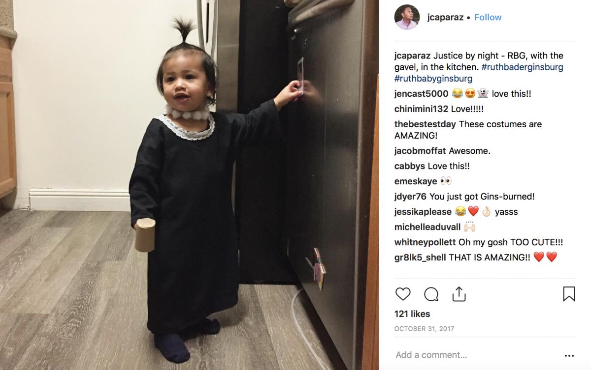 Ruth Bader Ginsberg baby costume
