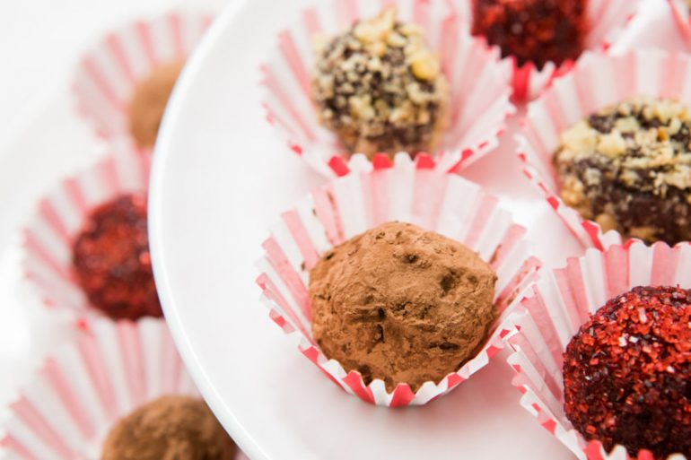 Gluten-free treats and sweets holiday truffles