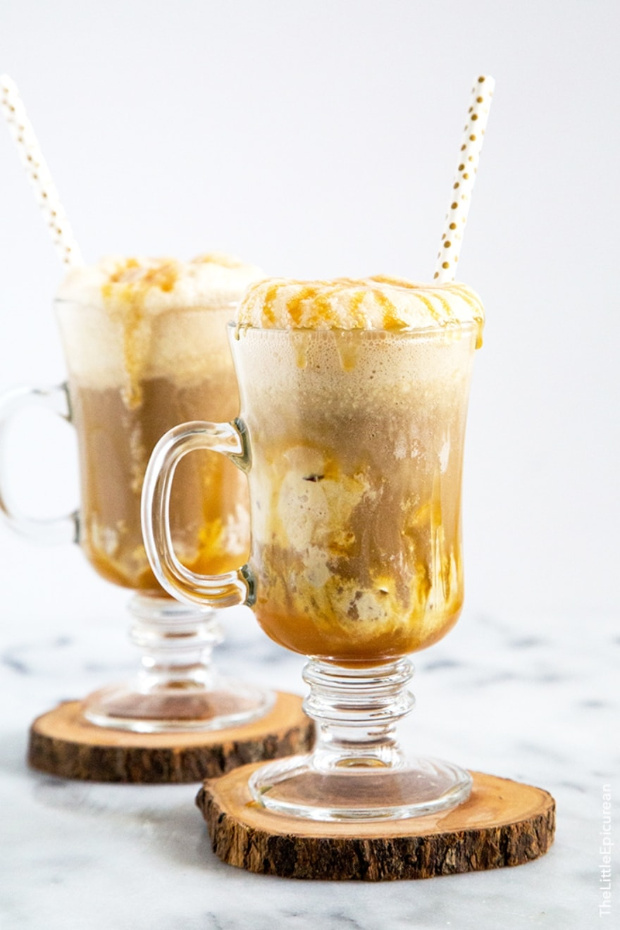 Dinner and a movie Beetlejuice boozy maple root beer floats