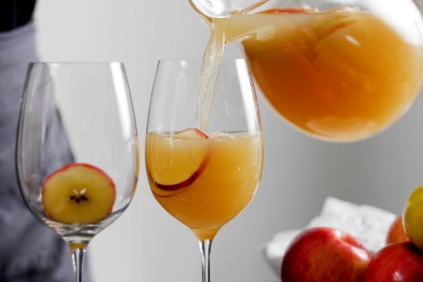 Alcohol-infused recipes caramel apple sparkling sangria