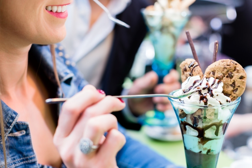 Potluck Friendsgiving ice cream bar