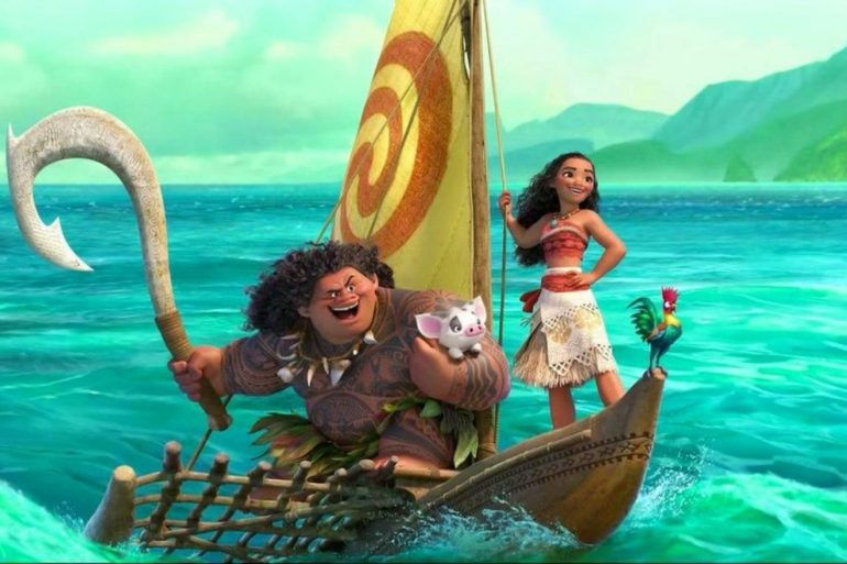 Dinner and a movie Moana and Maui