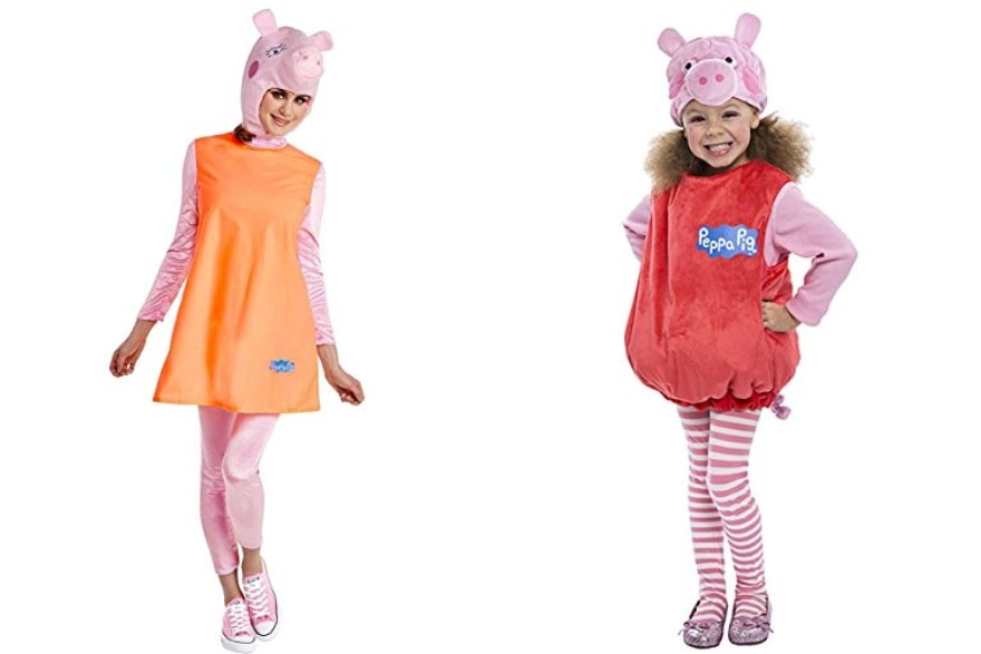 Mother daughter costume ideas Peppa and Mummy Pig