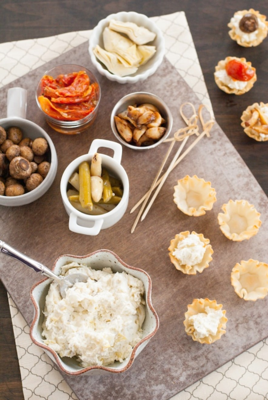 Food and drink bars phyllo cup appetizer bar