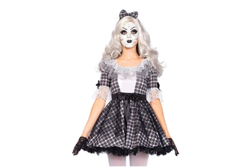 Scary women's Halloween costume ideas 2018 pretty porcelain doll from Amazon
