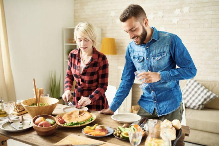 Vegan gluten-free Friendsgiving dinner