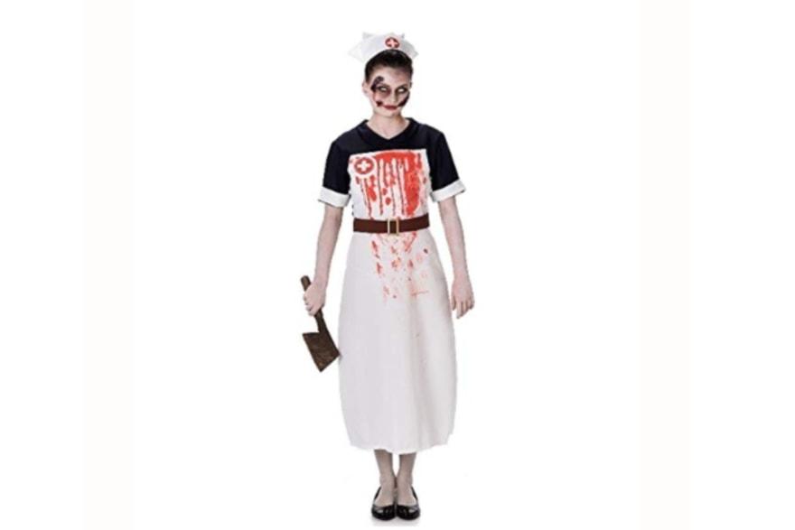Scary women's Halloween costume ideas 2018 zombie nurse from Amazon