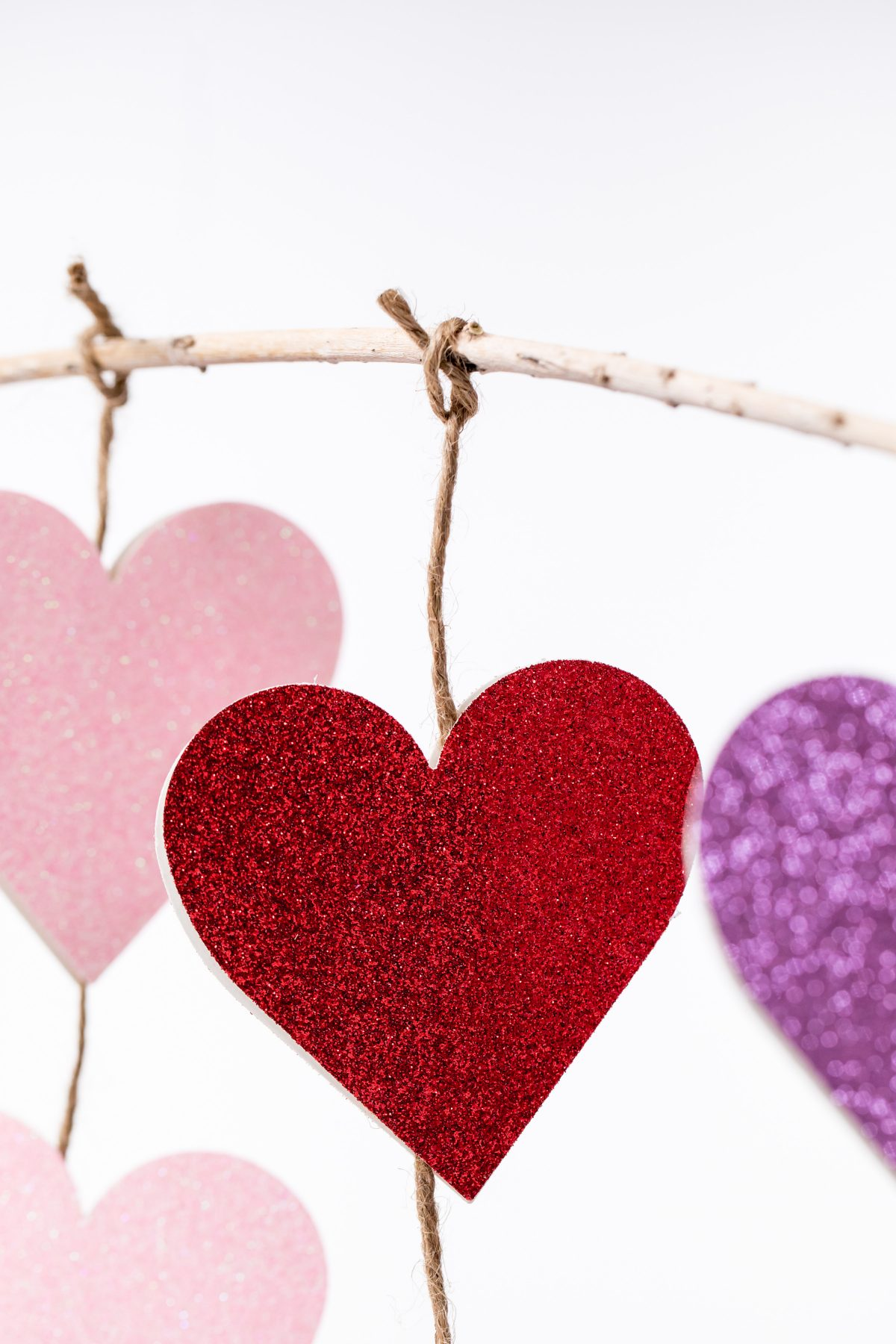 5D4B0853-Edit-2 - Glitter Heart Twine Garland