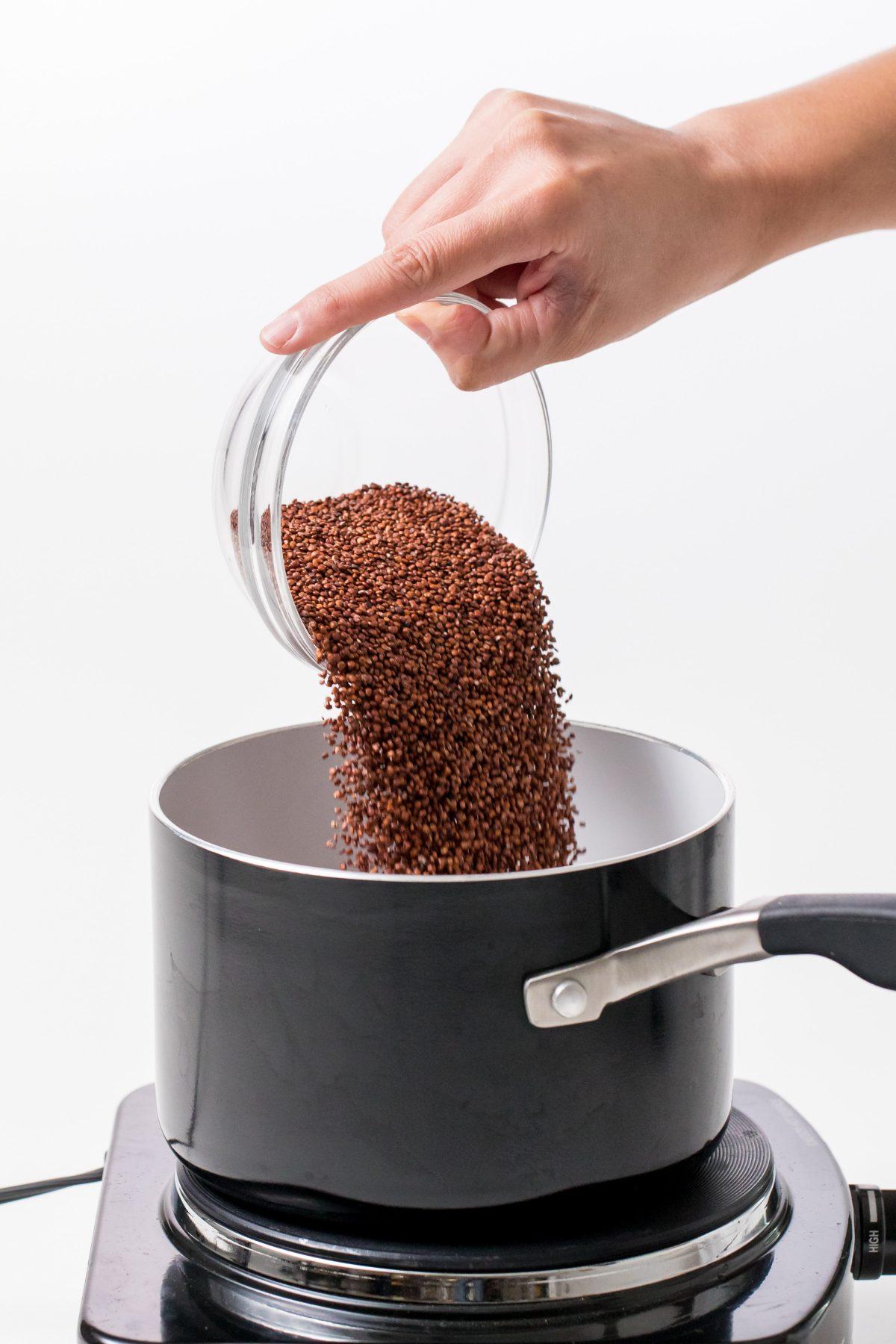 5D4B4080 - Winter Cauliflower Rice Bowls - Cook the quinoa