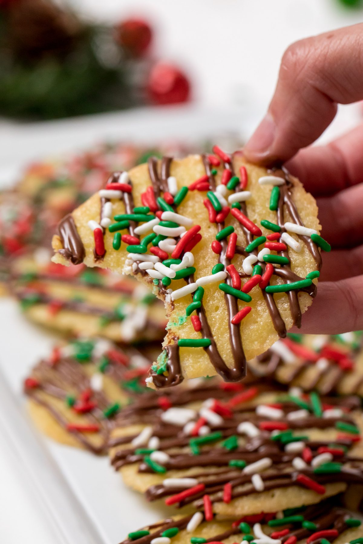 5D4B7081 - Chocolate Drizzled Christmas Cookies with Holiday Jimmies