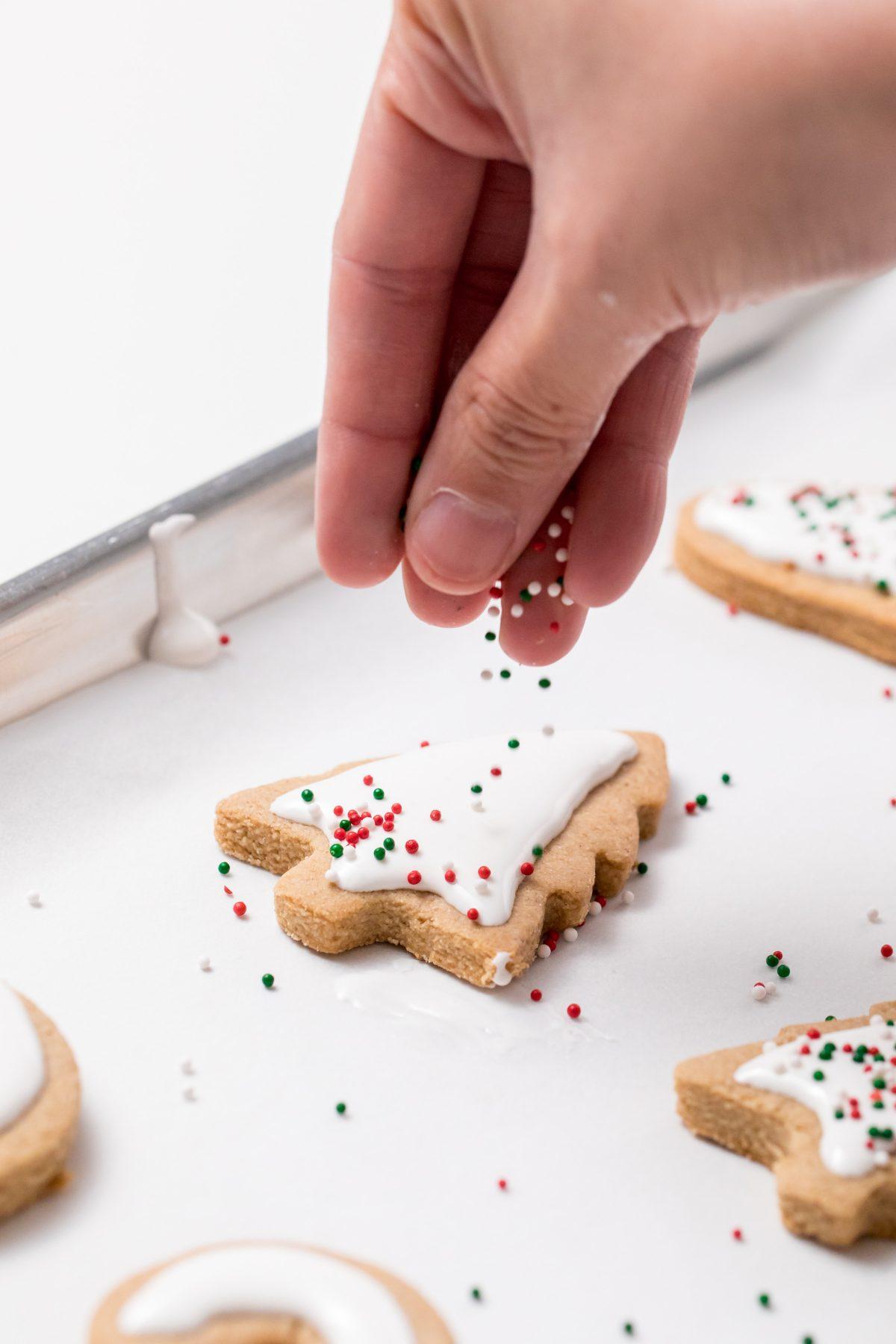 5D4B7392 - Vegan Gluten-Free Iced Holiday Shortbread Cookies