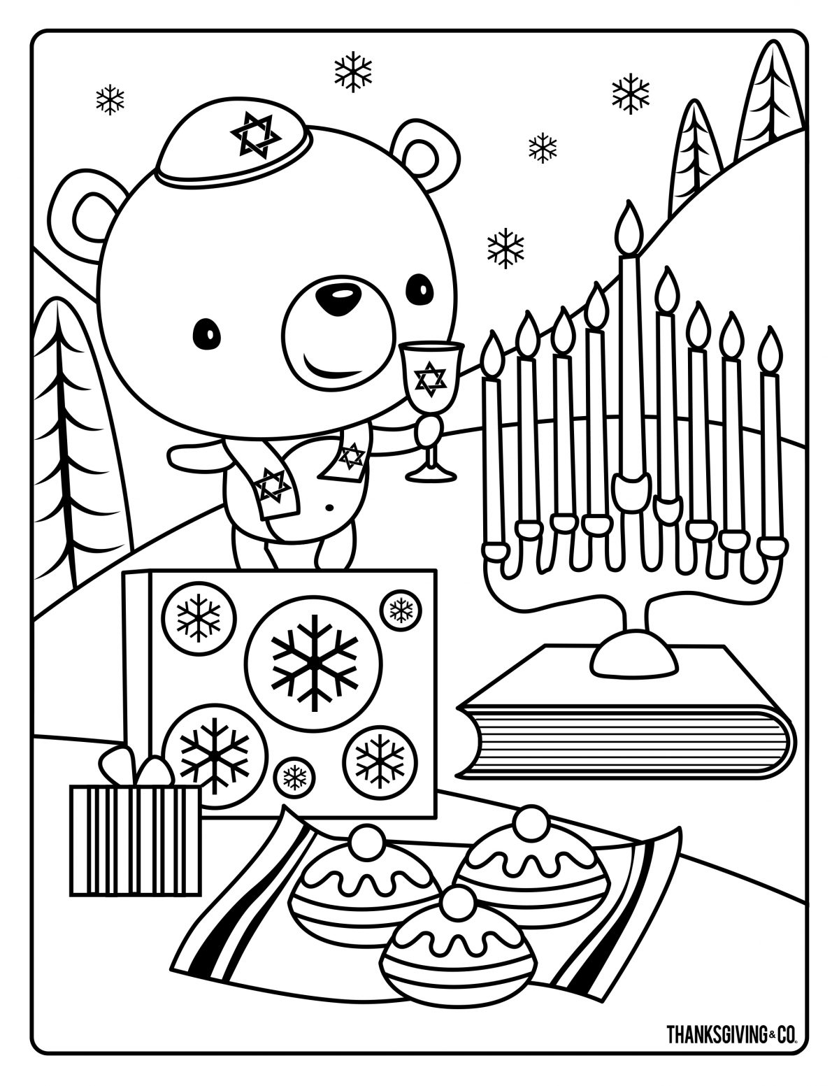 Hannukah Coloring 1