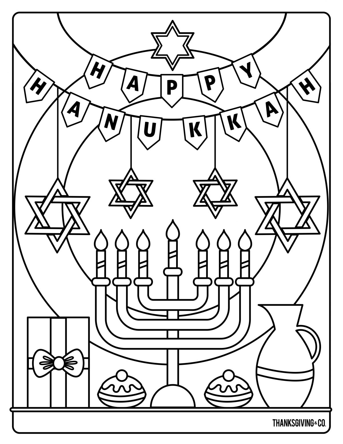 Hannukah Coloring 2