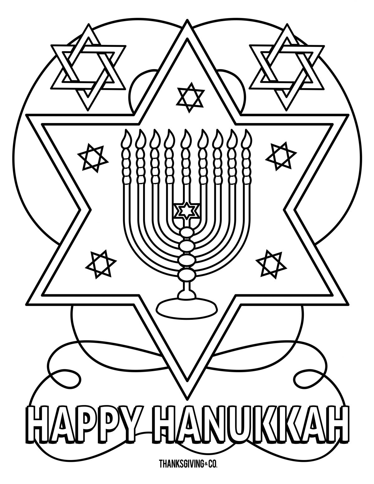 Hannukah Coloring 3