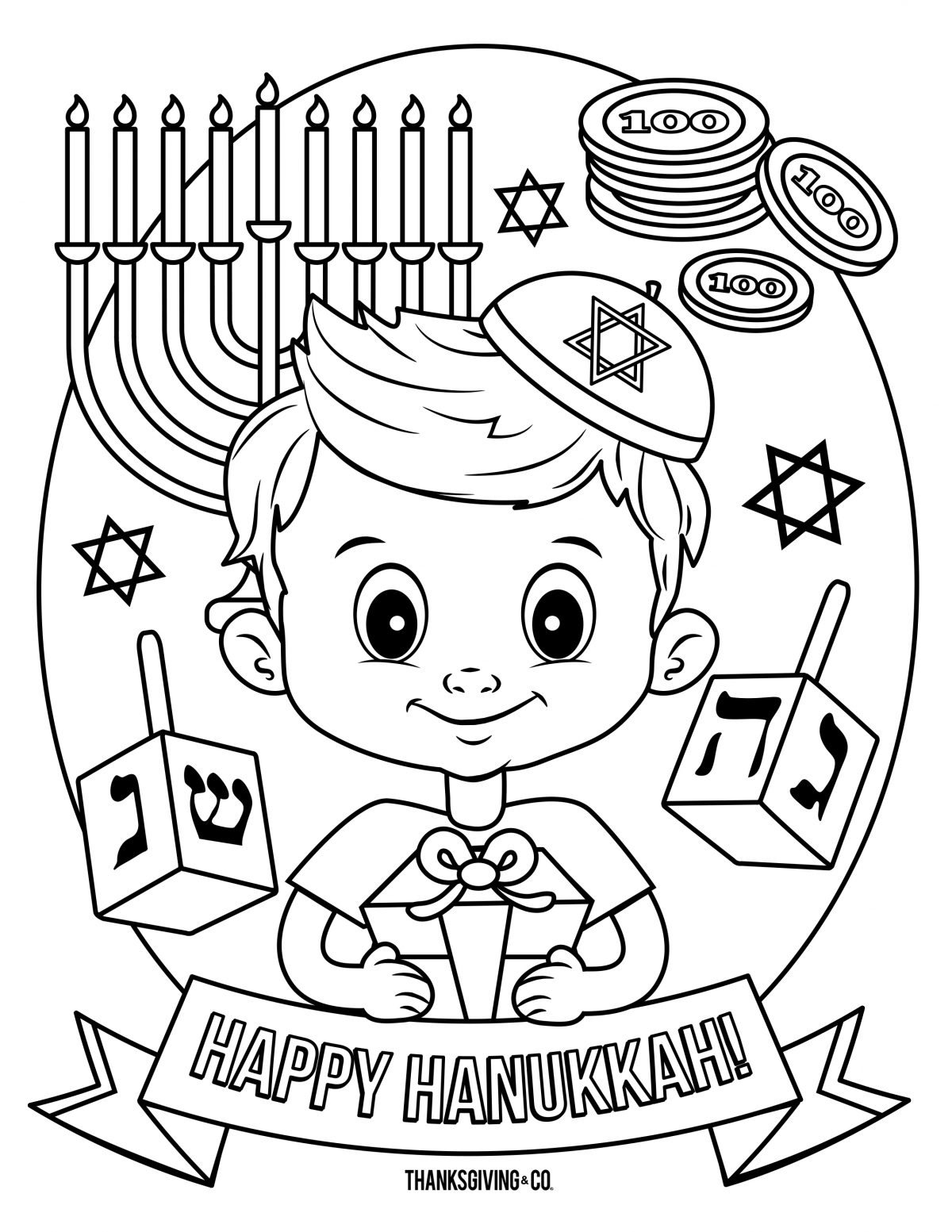 Hannukah Coloring 4