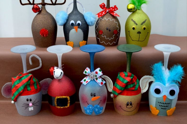 christmas-wine-glass-candle-holders