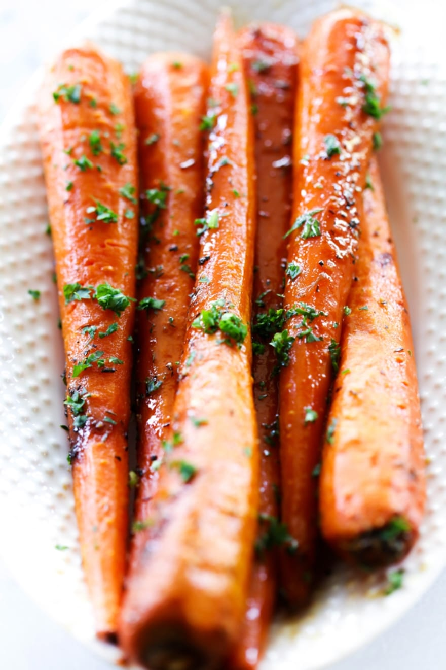 Dinner and a movie Elf roasted brown sugar carrots