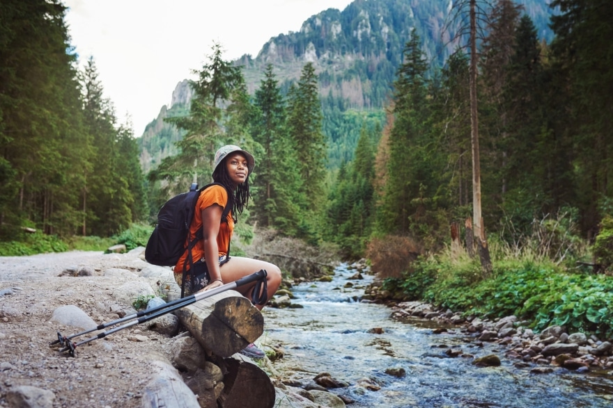 Weekend activities that don't involve drinking woman hiking