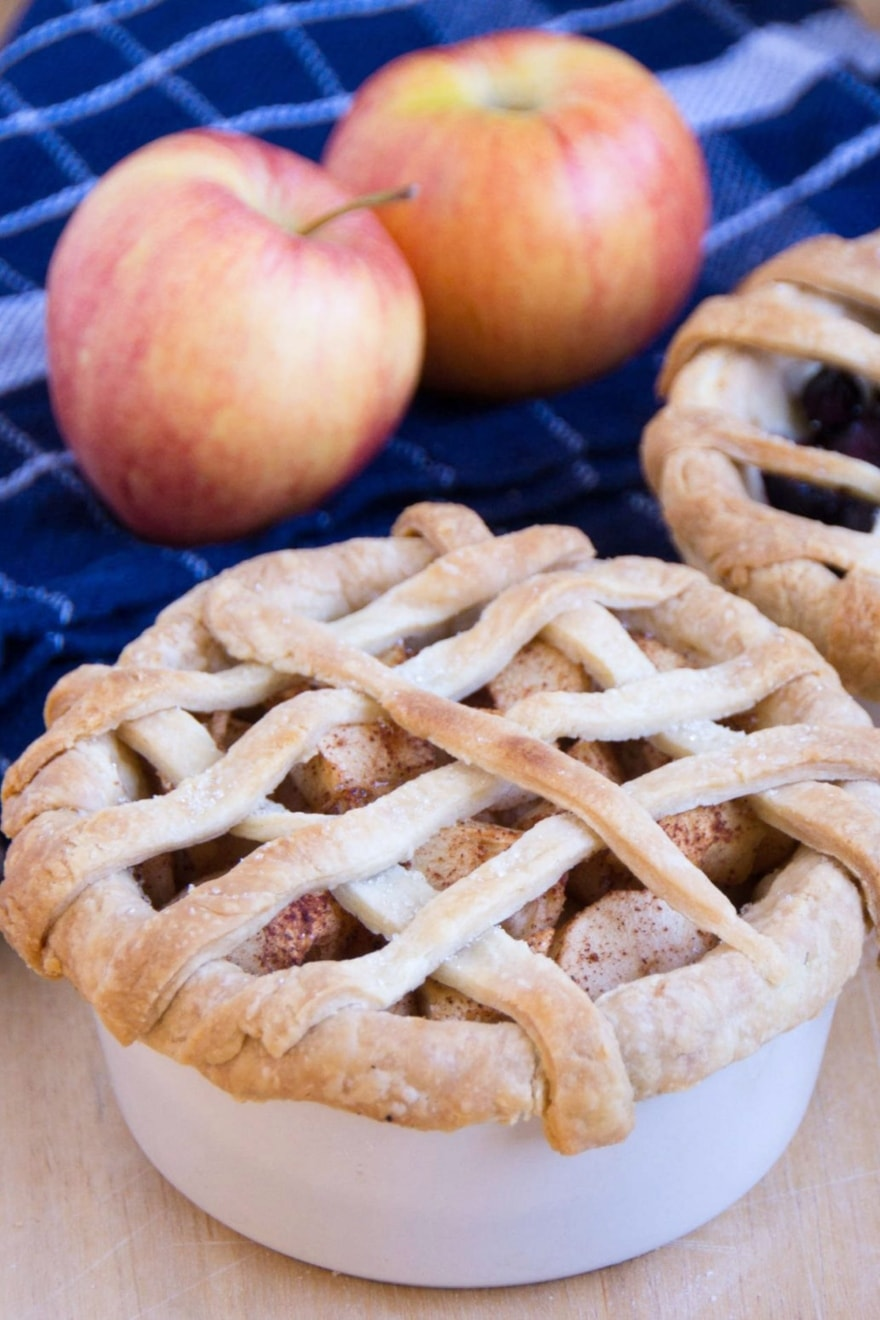 Dinner and a movie mini apple pies