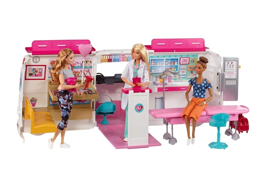 Most popular Christmas gifts Barbie Care Clinic Vehicle