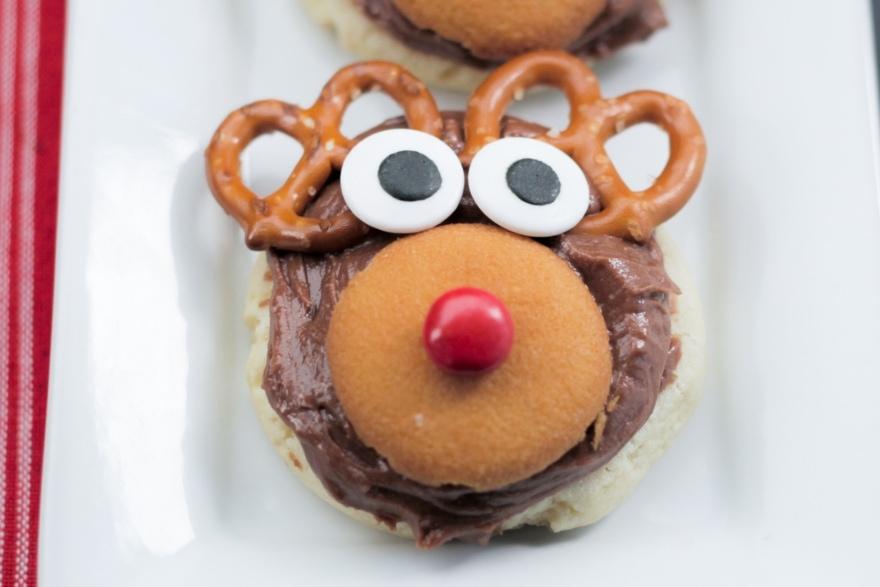 Dinner and a movie Elf reindeer cookies