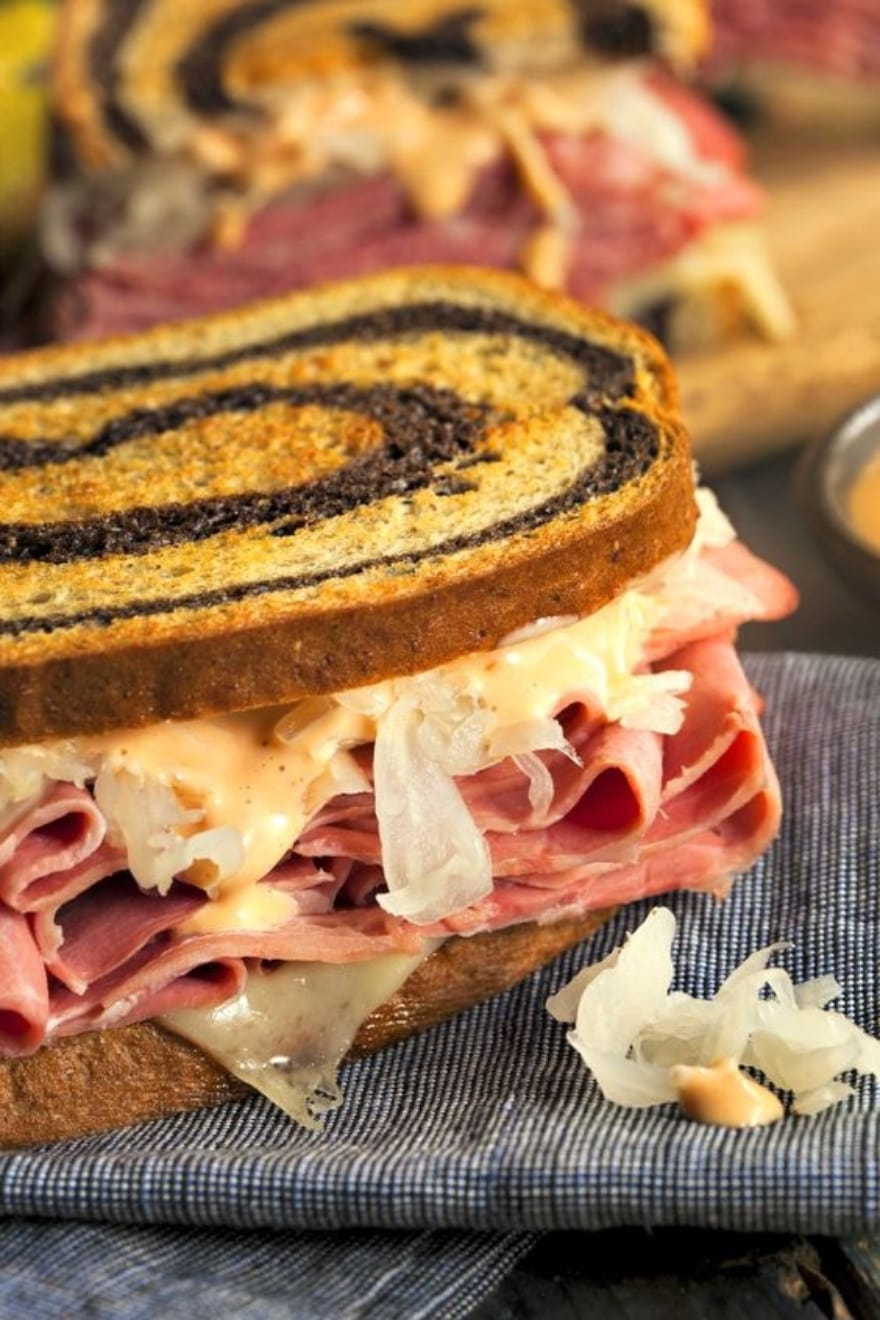 Dinner and a movie When Harry Met Sally Reuben sandwich from The Wicked Noodle