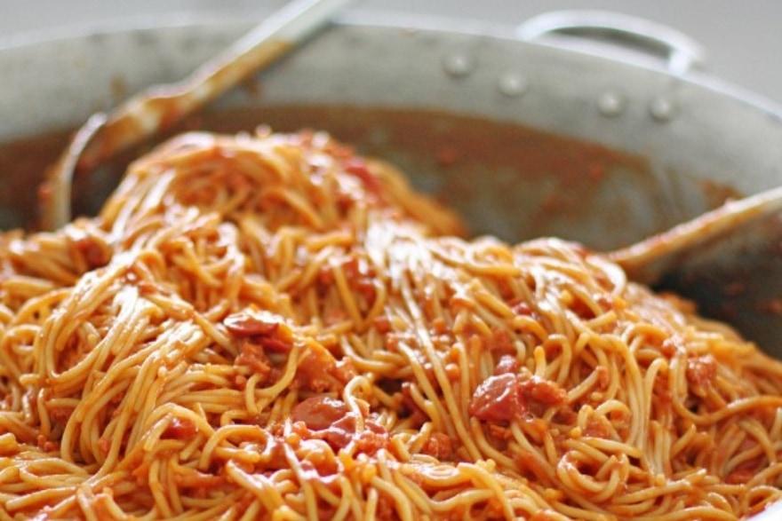 Dinner and a movie Elf Filipino spaghetti