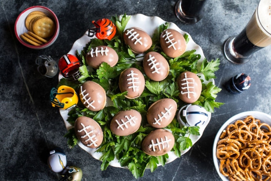 Truly unique football party ideas football deviled eggs