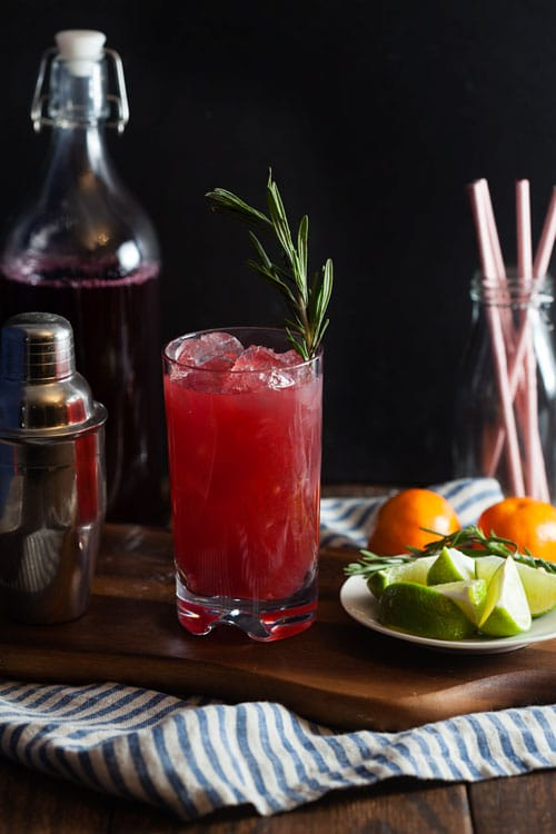 Cranberry-Clementine-Gin-Fizz-with-Rosemary-Honey-Syrup