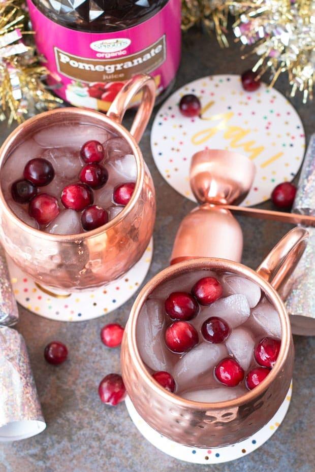 Cranberry-Pomegranate-Champagne-Mule