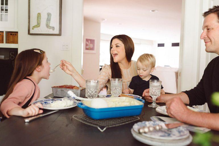 Family at Table (c) Rebecca Sanabria