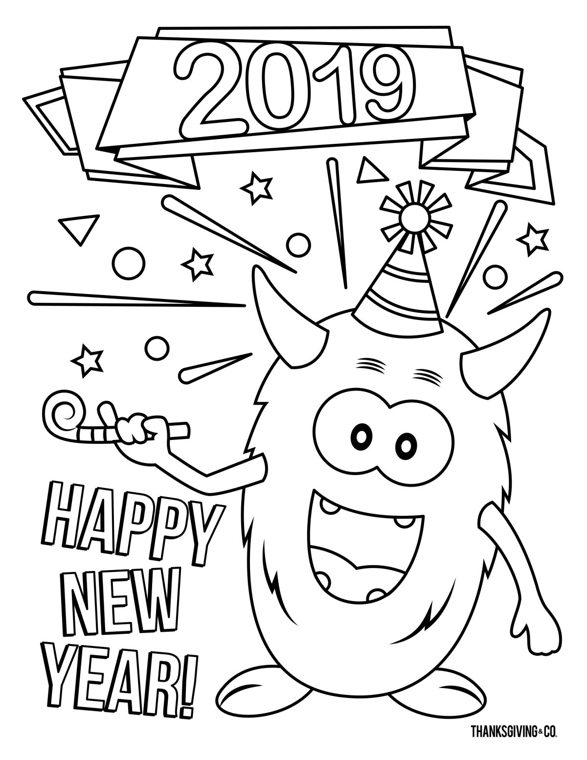 NewYear Coloring 3