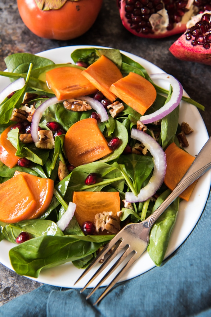Pomegranate-Spinach-Persimmon-Salad-5