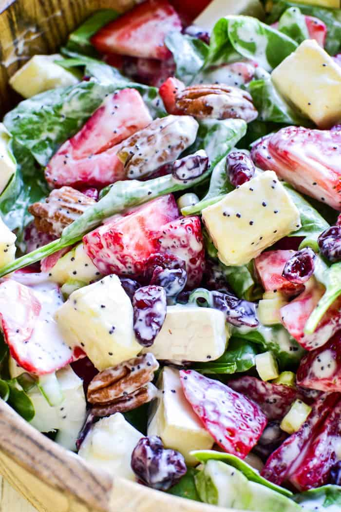 Strawberry-Brie-Spinach-Salad