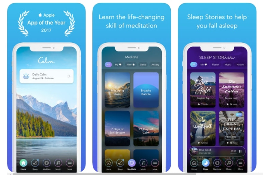 Apps and podcasts to help boost your inner peace Calm app