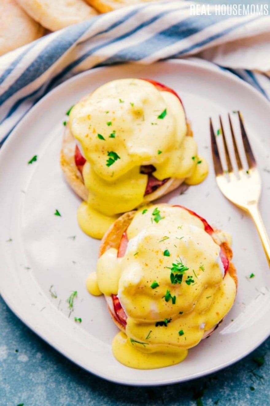 Dinner and a movie 'Mary Poppins' Eggs Benedict English muffin