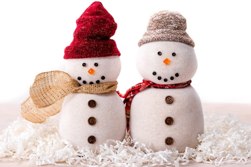 Dinner and a movie 'Christmas with the Kranks' tube sock snowmen craft