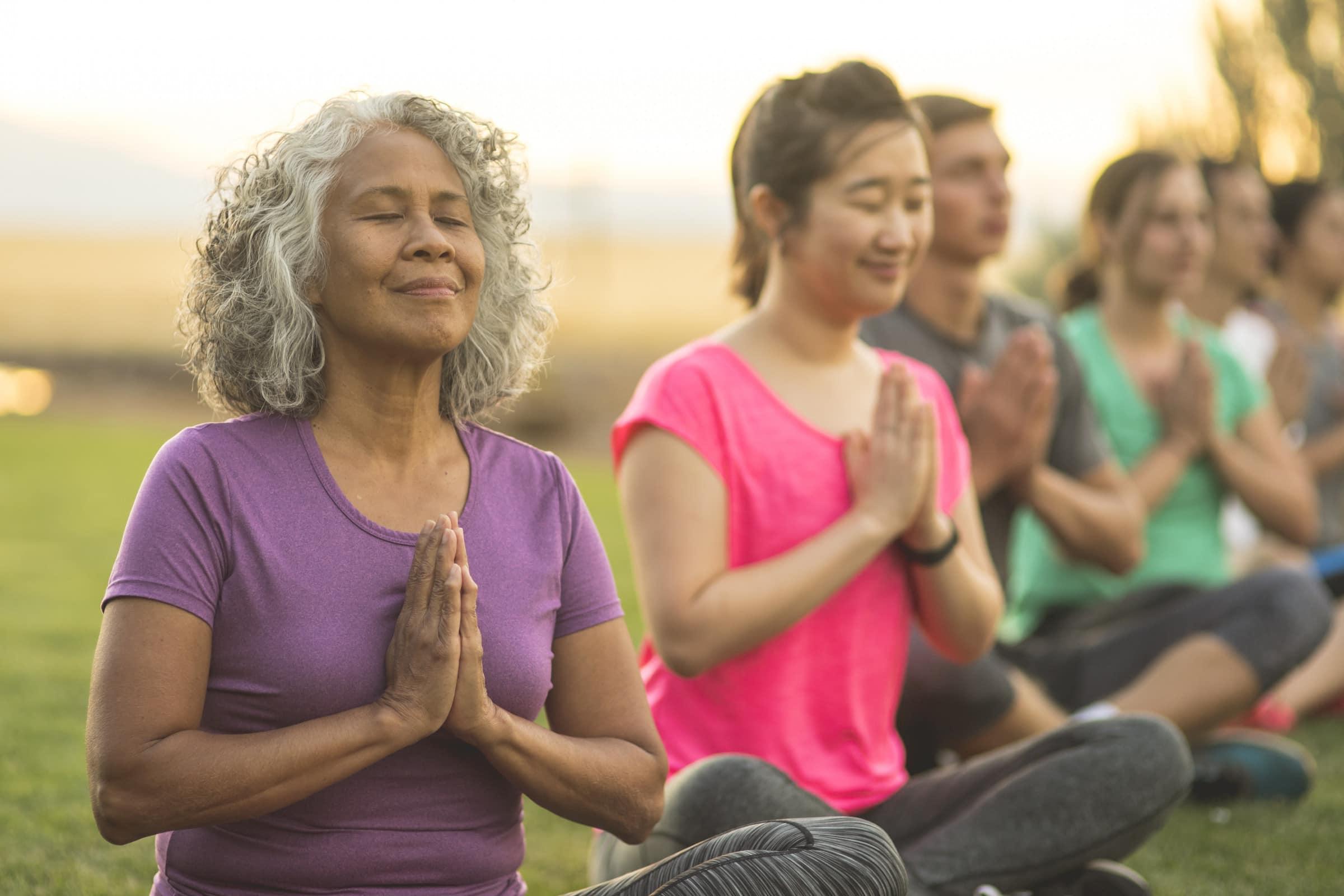 Self-care advice woman doing yoga