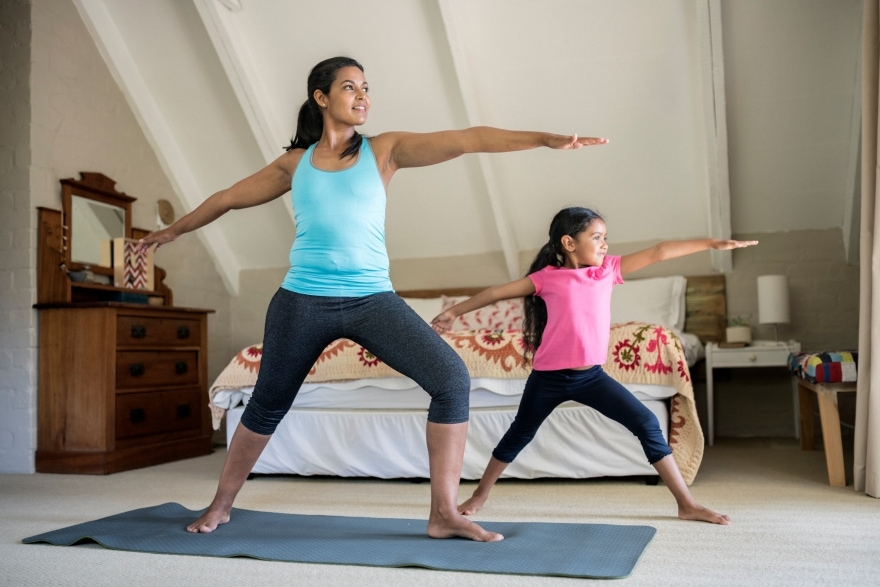 Exercise programs you can do with your kids yoga