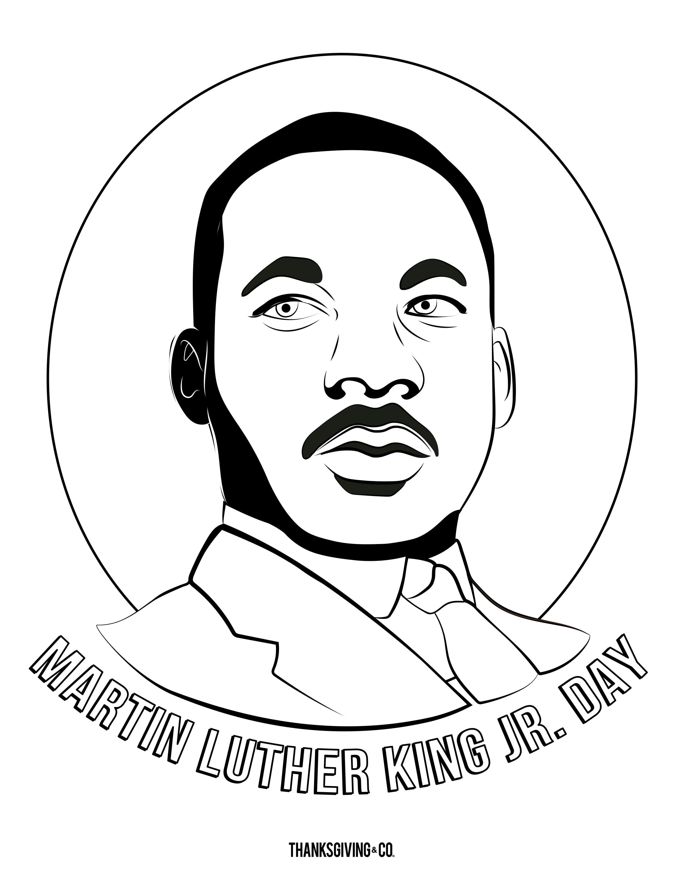 MLK JR Coloring 1