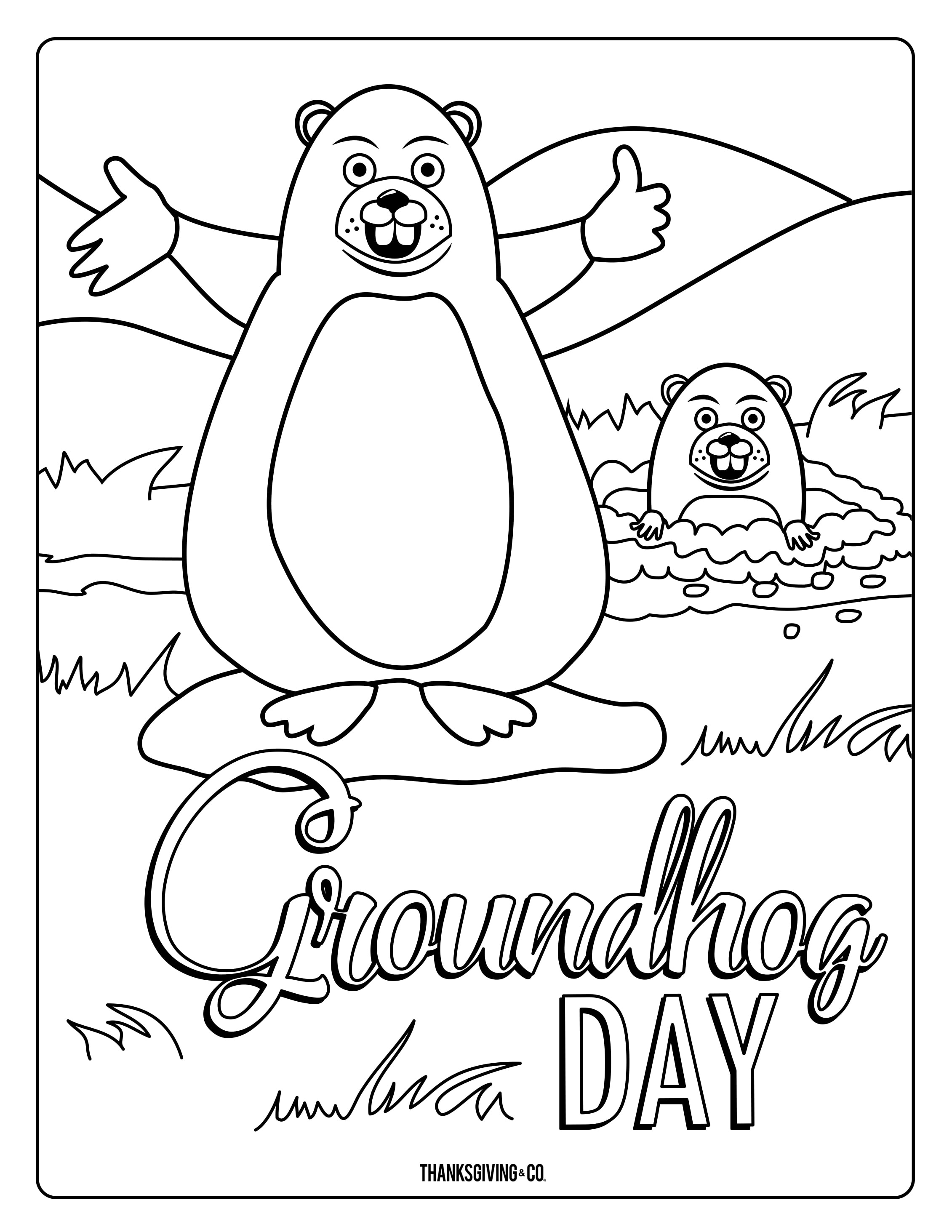 groundhog-day-coloring-pages